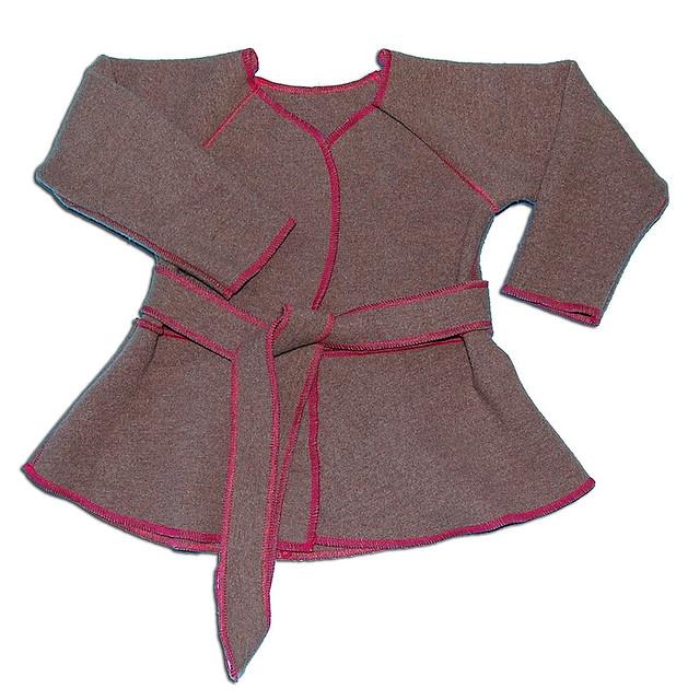 organic wool interlock jacket - flatlock stitch | just fussy