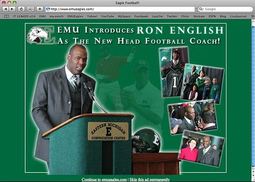 Ron English - EMU Head Football Coach