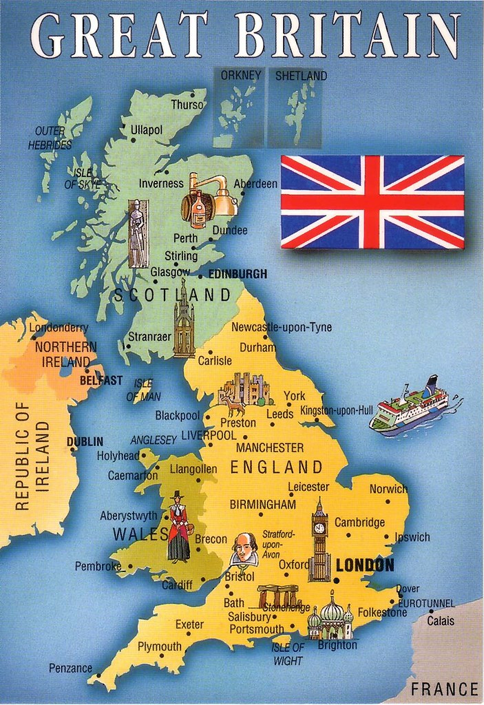 Great Britain Map | Flags and Maps - Great Britain - 3 avail ...
