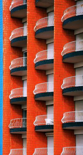 orange france beach colors architecture buildings letouquet graphism citrit