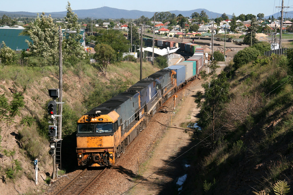 Pacific National diesel electric locomotives NR20 + NR57 +
