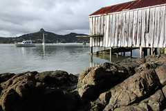 Boat shed on the rocks