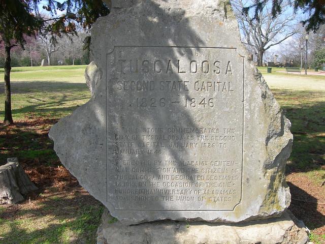 Tuscaloosa State Capital Marker