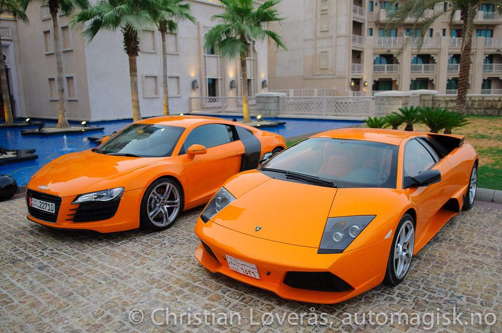 Lamborghini Murcielago Lp640 Audi R8 And Paint Them Ora Flickr