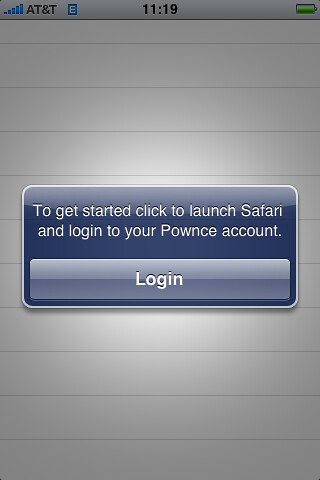 Pownce OAuth flow Step 1 | by factoryjoe