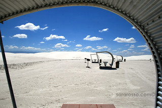 Picnic tables for lunch stops at White Sands National Monument | by MsAdventuresinItaly