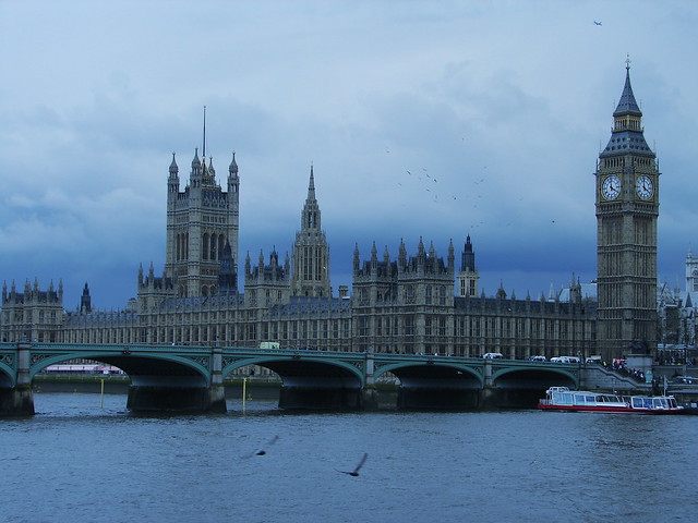 Houses of Parliament on a cold day