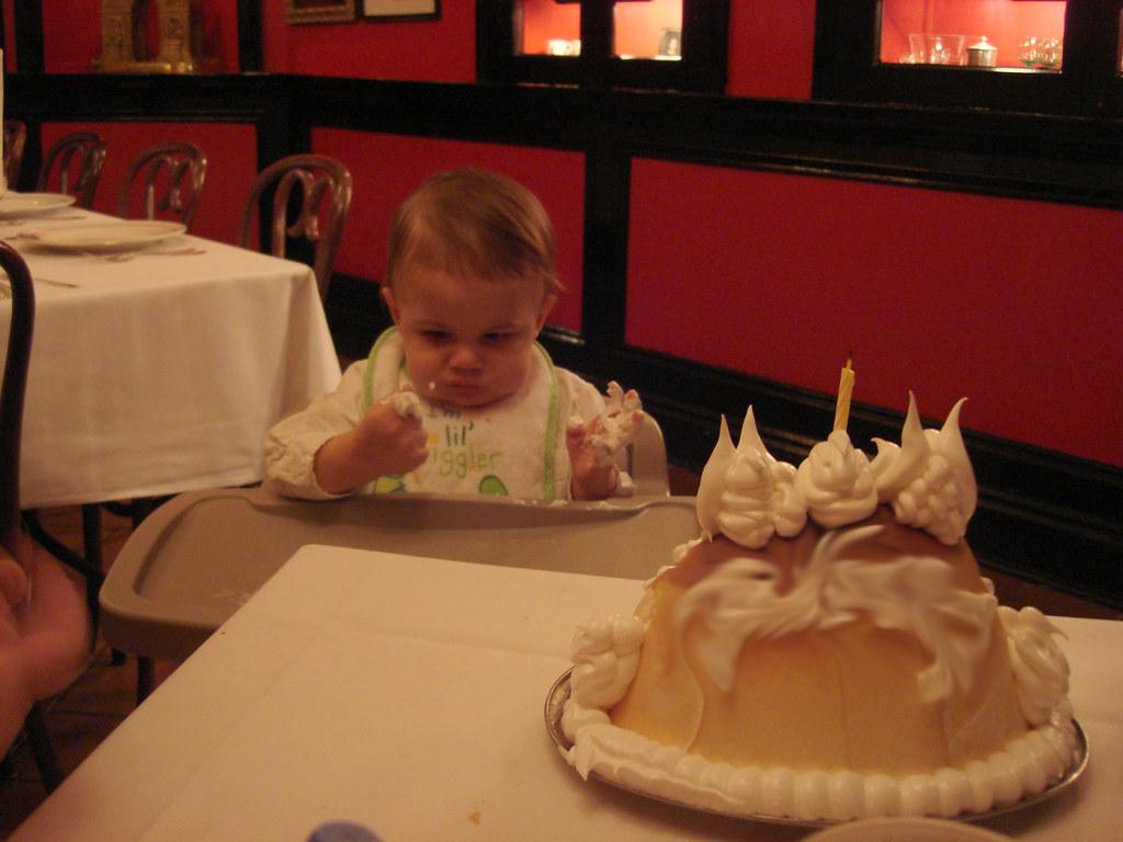 Incredible Shugs First Birthday Cake Baked Alaska At Antoines New Flickr Personalised Birthday Cards Cominlily Jamesorg