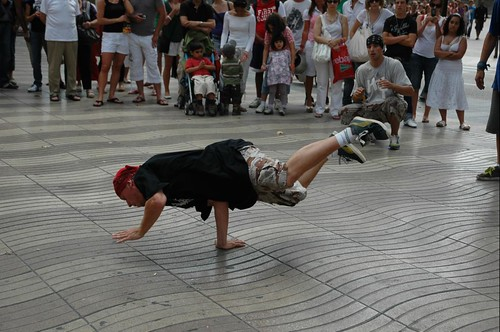 Photo of a break dancer in barcelona