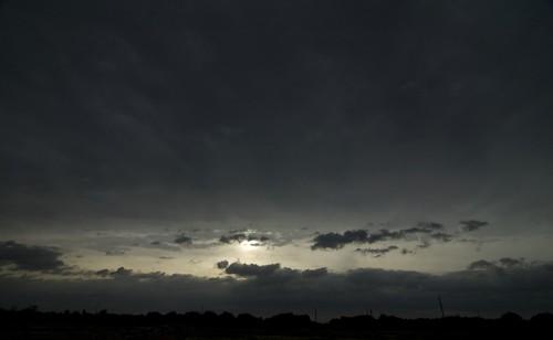 sunset clouds hurricane gray ike stormclouds hurricaneike