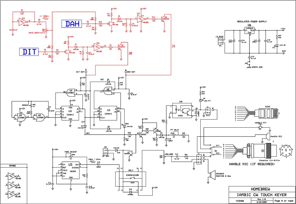 Schematic Electronic Keyer | Schematic CW Touch Keyer | Flickr