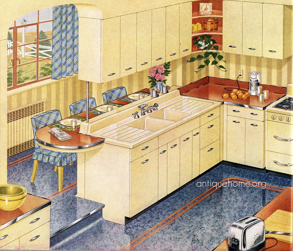 Free Kitchen Catalogs: 1940's Kitchen::1948 Standard Plumbing Catalog
