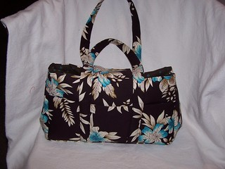 brown and blue purse 018
