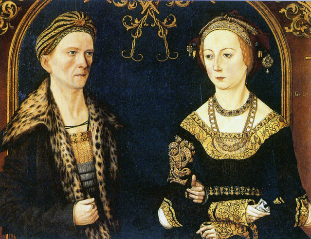 Wedding portrait from Jakob Fugger the rich and his wife Sibylla Artzt from 1498