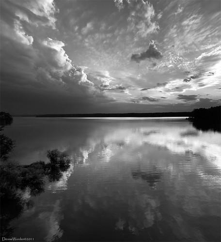 light sunset panorama lake nature water clouds canon landscape golden nc northcarolina denise goldenhour jordanlake worden 450d deniseworden