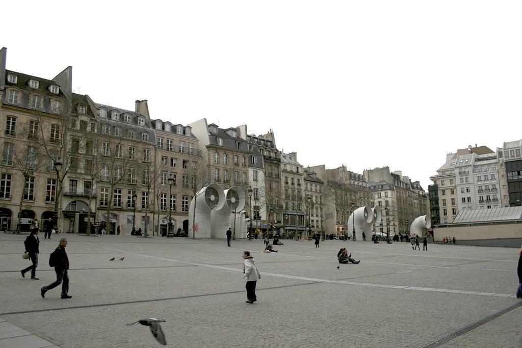 Centre Pompidou, Le Marais