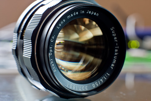 glass lens 50mm photo asahi pentax takumar f14 super front smc multicoated