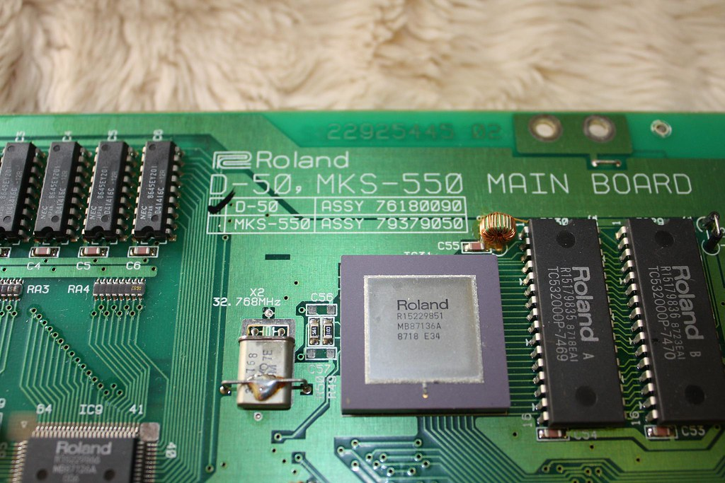 Roland D-50 Main board  | a snap of part main board as I rep