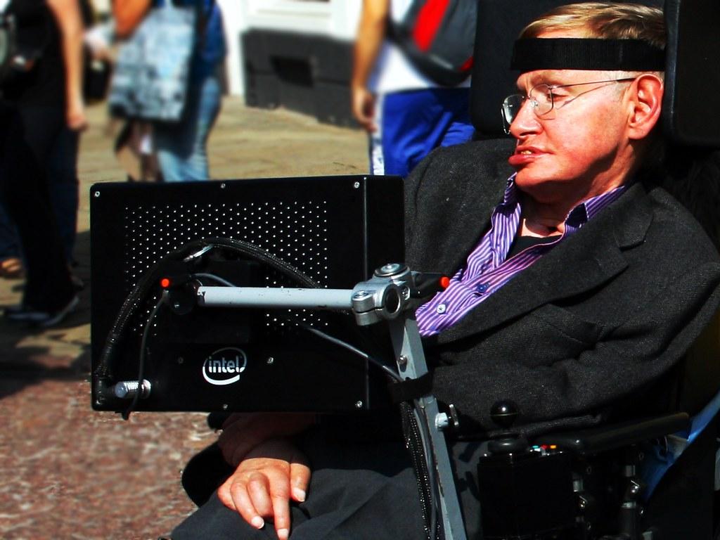 Professor Stephen Hawking in Cambridge