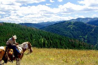 Enjoying the view - Wyoming on horseback   by Al_HikesAZ