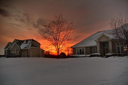 winter sunset snow minnesota stm mn 4940p