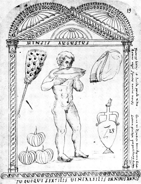 Roman calendar from 354 - August