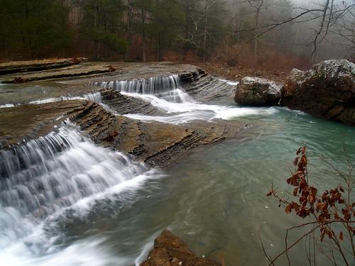 forest waterfall national arkansas ozark sixfingerfalls