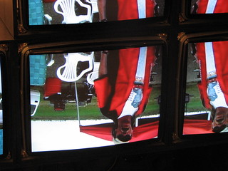Tom Jones on the screens in the ACM
