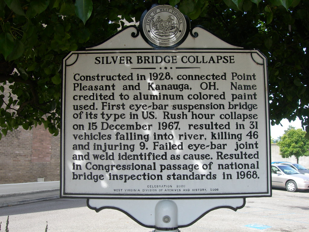 """Image result for mason county wv historical markers Silver Bridge"""""""