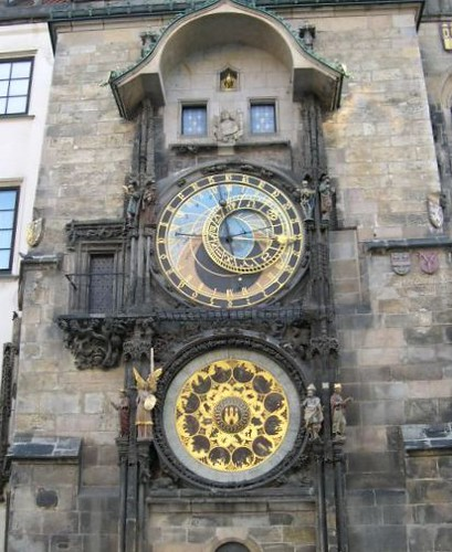 Praha Staroměstské náměstí Hodiny