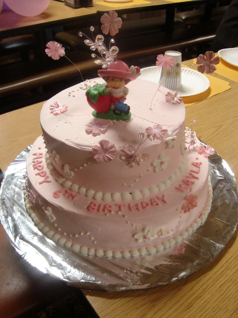 Kaylas 6 Year Old Birthday Cake 2 Tier Chifon With Flan In Mid