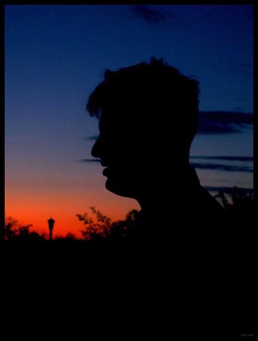 portrait color silhouette sunrise dawn virginia profile bedfordvirginia