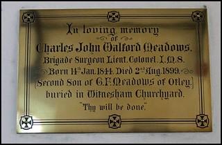 Buried in Witnesham churchyard