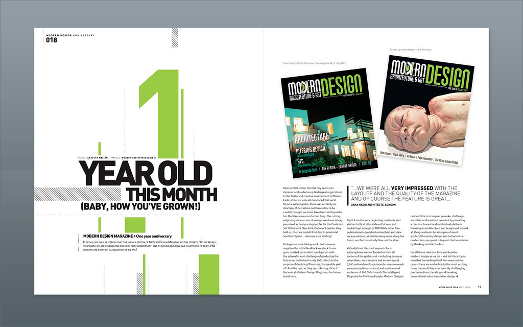 Modern Design Magazine 1 Year Anniversary Magazine Des