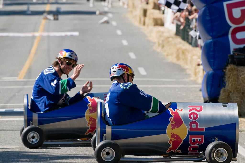 Red Bull Soap Box Derby >> Jared Padalecki Vs Jensen Ackles At The Red Bull Soapbox D