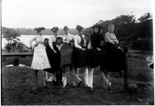 """Couples from the Royal Comic Opera Company show """"Many Friends"""", Sydney, early 1900s / Albert J. Perier   by State Library of New South Wales collection"""