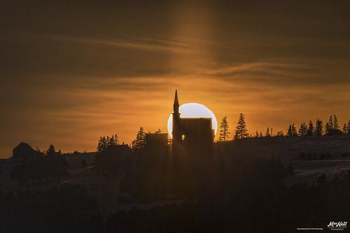 sunset church gaelic highland iona capebreton winter