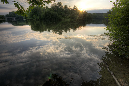 park county ohio lake reflection water clouds sunrise woods cincinnati hamilton sharon hdr photomatrix