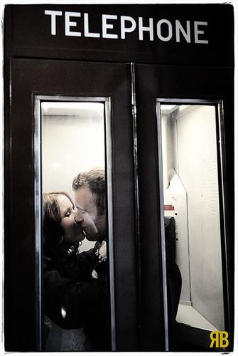 wedding portrait newyork love happy nikon kiss phonebooth noflash purchase d3 manhattanville 2470mmf28g stephanieandwade