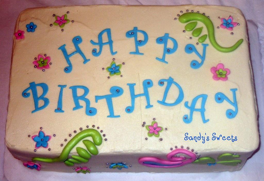 Admirable Funky Birthday Cake Buttercream Birthday Cake With Fondant Personalised Birthday Cards Arneslily Jamesorg