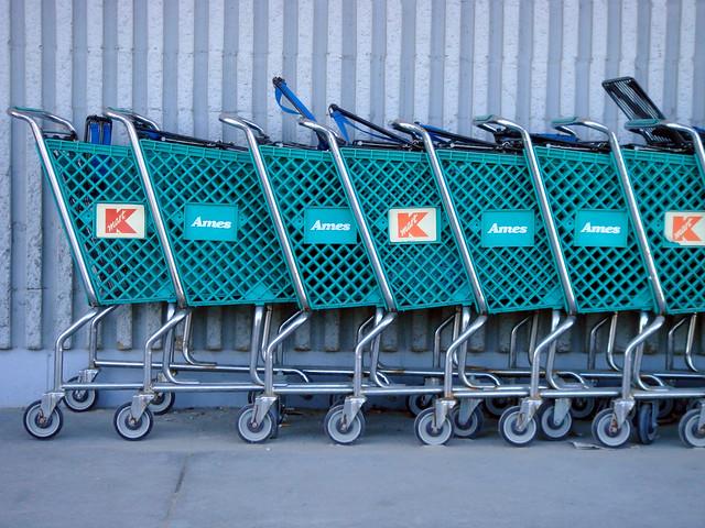 Ames Carts Seen at Fitchburg Kmart