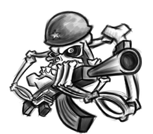 Cartoon Skeleton Soldier Sketch Revised Soldier Skeleton S Flickr