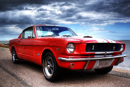 Ford Mustang on Felixstowe beach | by stevoarnold