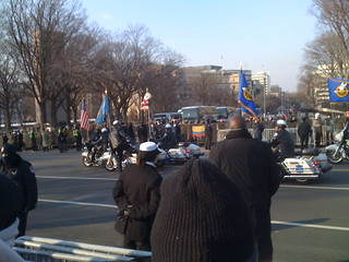 Start of Obama's and Biden's Inaugural Parade