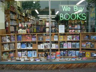 Window Shopping - Half Price Books - University District - Seattle | by brewbooks