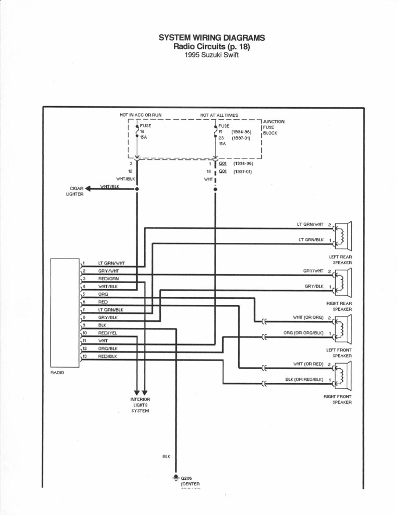 geo wiring diagram wiring diagram  1992 geo storm radio wiring diagram #14