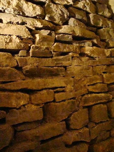 ny newyork stone wall howecaverns