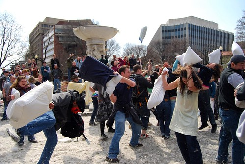 Dupont Circle Pillow Fight. | by stuzehner