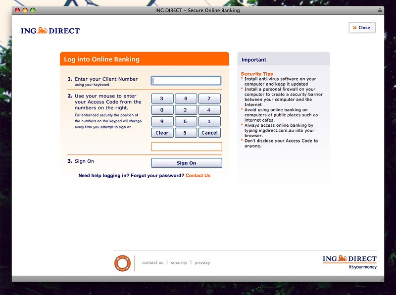 ING DIRECT - Secure Online Banking