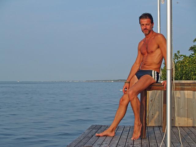 Jean-Manuel on Michael's deck